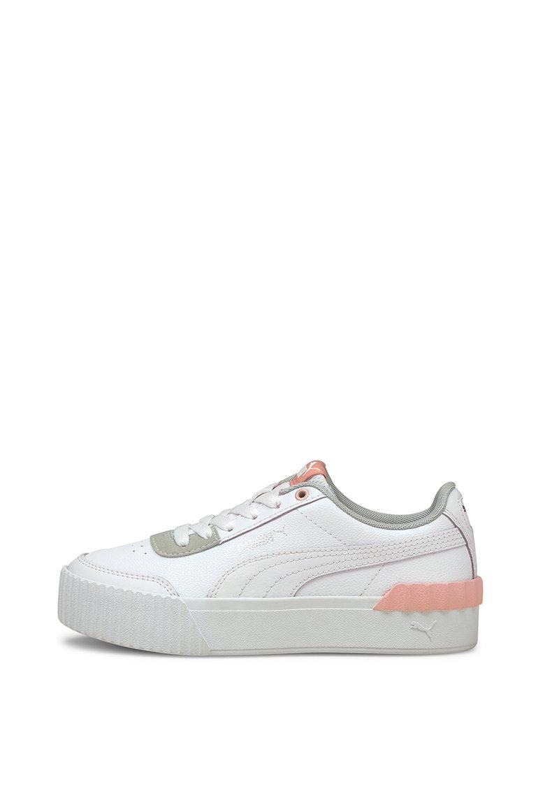 Омекотени спортни обувки Puma Carina Lift Jr с кожа