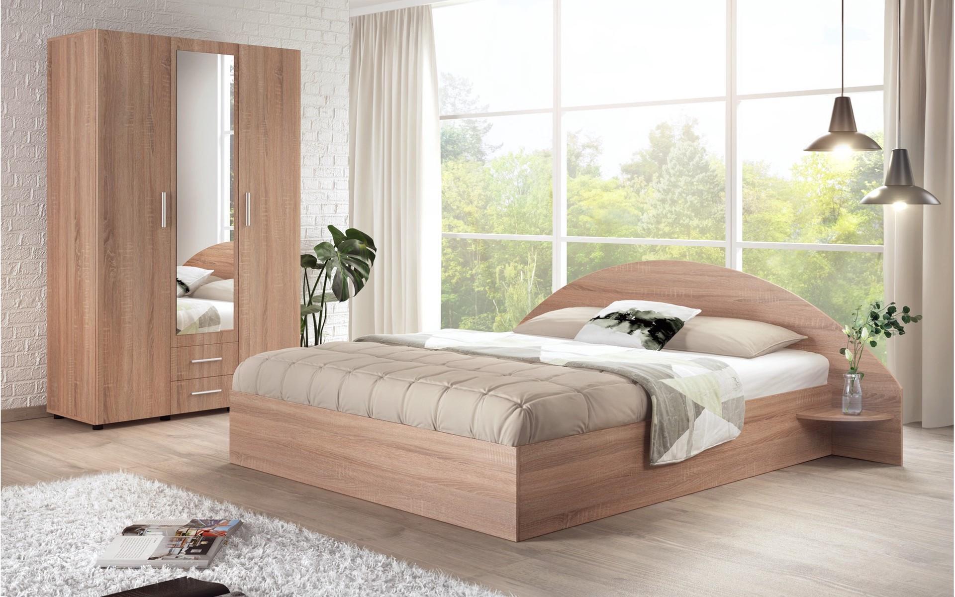 Спален комплект Лорейн + матрак 140/200 , дъб сонома