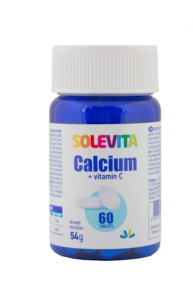 SOLEVITA Калций и витамин с, 60 таблетки