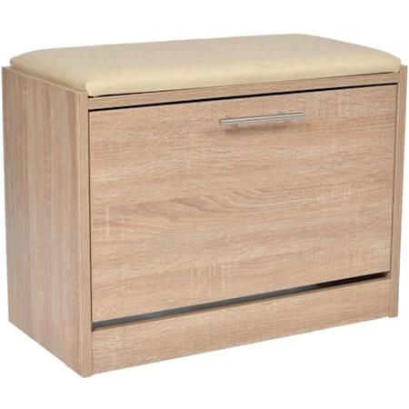 Пейка шкаф за обувки Kring Uno, 60x46x30 см, Сонома
