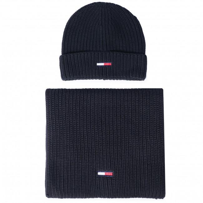 Комплект шал и шапка TOMMY JEANS Tjm Basic Rib Scarf & Beanie Gp