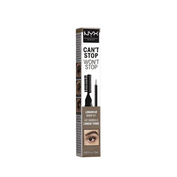 NYX PROFESSIONAL MAKE UP CAN'T STOP WON'T STOP Комплект за вежди, 8 мл.