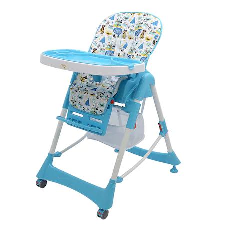 Стол за хранене Mappy SM-21, Регулируем, 6 – 36 месеца, Син