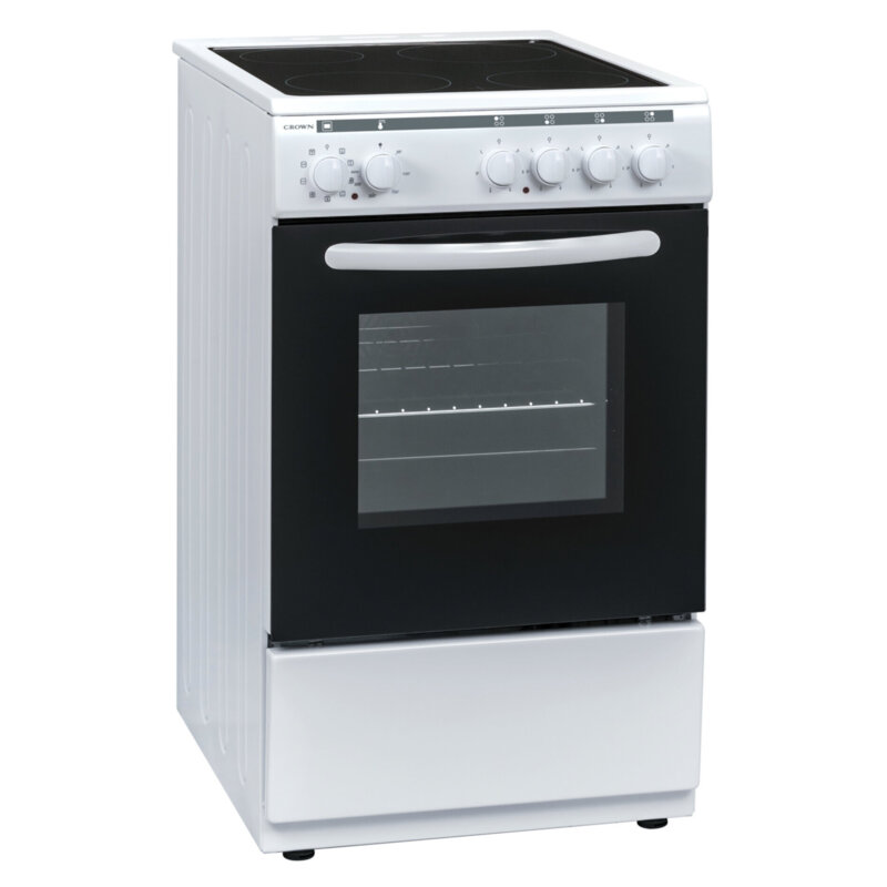 Готварска печка Crown 50C3MA , Бял , Керамични