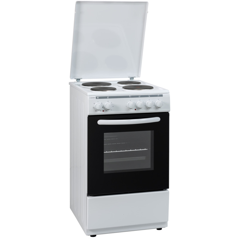 Готварска печка Crown 54AM A CLASS MULTIFUNCTIONAL , 4 ток , Бял