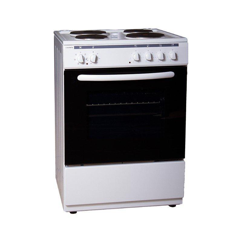 Готварска печка Crown 6410A , 4 ток , Бял