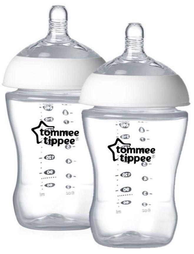 Комплект бебешки шишета Tommee Tippee Ultra – 260 ml, с биберон 1 капка, 2 броя